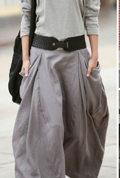 Grays, oversized skirt with pockets, comfy.