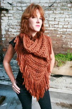 SALE- The Lola Scarf in Wool Spice Orange. $60.00, via Etsy.  The color is probably too muted for me, but it's beautiful!