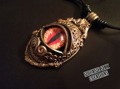 Golden Dragon Eye Pendant made of Polymer by SiouxsieSixxCreation, €14.00