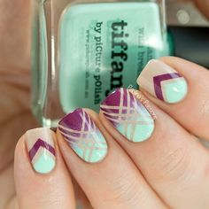 piCture pOlish Nail Art Quarterly - Geometric Nails by Paulina's Passions