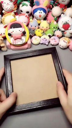 Cute Polymer Clay, Polymer Clay Miniatures, Polymer Clay Creations, Polymer Clay Crafts, Diy Clay, Clay Crafts For Kids, Cool Paper Crafts, Paper Crafts Origami, Clay Wall Art