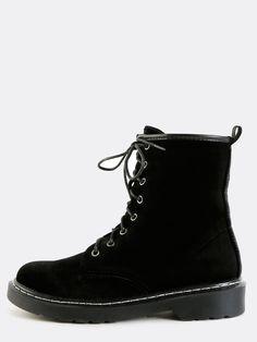 Velvet Ankle Boot (Black)
