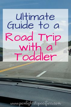 Tips for a long road trip with a toddler. Tips, things to do, and ideas for snacks. How to survive a road trip with a one year old. #toddler #roadtrip #vacation