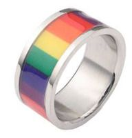 Rainbow Smooth Flag Ring - Gay & Lesbian Pride