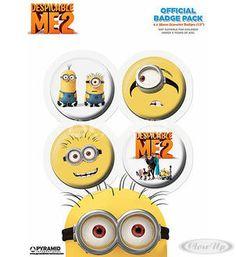 Despicable Me / Despicable Me 2 Minion Button Set / Dave & Stuart  Available on http://closeup.de