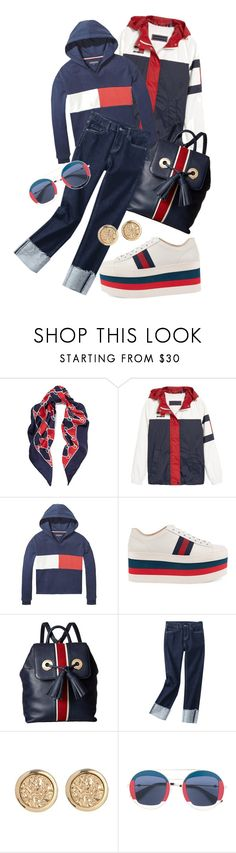 """Party In The USA 🇺🇸"" by mavinex-de-nova ❤ liked on Polyvore featuring Gucci and Tommy Hilfiger"