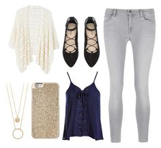 """""""Untitled #12"""" by gabporto on Polyvore featuring MANGO, Sans Souci, J Brand, H&M, Michael Kors and Kate Spade"""