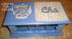 Caixa de chá com carimbos para artesanato!!! - Loucas por caixas - Terra Fotolog