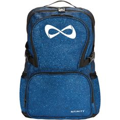 Nfinity Sparkle Backpack ($75) ❤ liked on Polyvore featuring bags, backpacks, daypack bag, day pack backpack, sparkle bag, sparkle backpack and blue bag