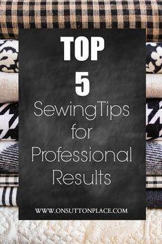 Sew like a Pro! Here