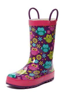 Western Chief Kids Owl Parade Rain Boot (Toddler, Little Kid