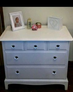 Lovely Stag Minstrel  Drawers Chest Romantic White And Crystal Design