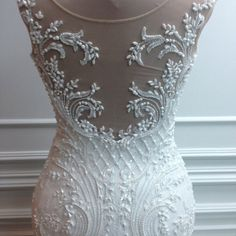 .@michael5inco | Couture back details...love this...beautiful bride from Russia...#moscow #cou... | Webstagram