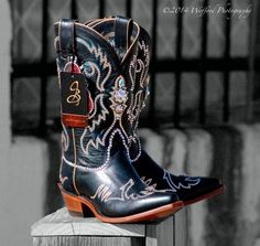 Jacqi Bling Custom Swarovski Cowgirl Boots. So fabulous they ought to be illegal!