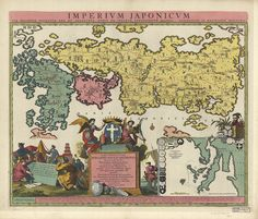 images from a Harvard Library exhibition called: 'Going for Baroque - The Iconography of the Ornamental Map'