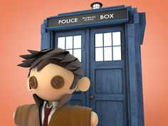 10th Doctor Plushie Doll mock up