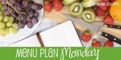 each post includes: 5 meals with shopping list, prep & recipes