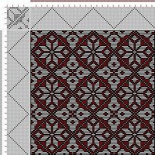 Drawdown Image: Plate 65, No. 2, Neues Build-und Muster-Buch zur Beforderung der Edlen Leinen-und Bild-Weberkunst, Johann Michael Kirschbaum, 16S, 16T
