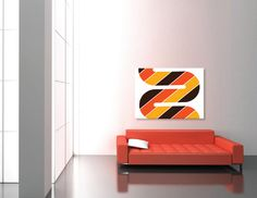 MOD Fabric Panel Vintage 1960s 1970s 60s 70s Marimekko Panton Style Swedish Sweden Finland Geometric Graphic Wall Art