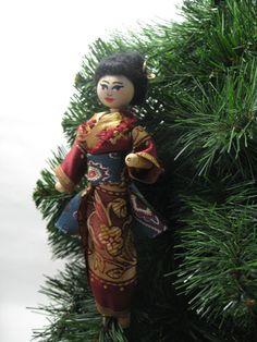 Geisha Girl Clothespin Doll by tabithamae on Etsy, $19.00