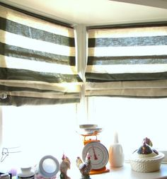 No Sew Fabric Blinds