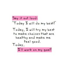 One day at a time! I really need to do this.