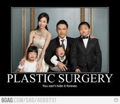 Can't hide plastic surgery forever