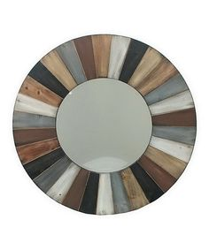 Love this Wood Stripe Frame Mirror on #zulily! #zulilyfinds  ** Make something like this with Pallet wood