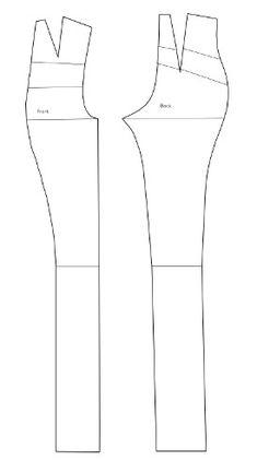 Trousers - Basic pattern for Doll Chateau K-07 bjd by LadyArrogance.deviantart.com on @DeviantArt