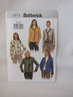 Jacket Pattern Butteric 3573. Sizes 8,10,12. Career Warm Jacket Pattern. Factory Folded.  Special Sale. Very Cheap. Bargain pricing. by FashionSew on Etsy