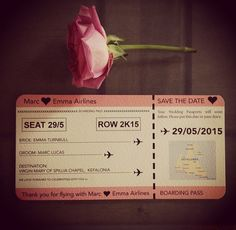 Wedding Boarding Pass  Getting Married by CANDYFLOSSCREATIONS1, £2.00