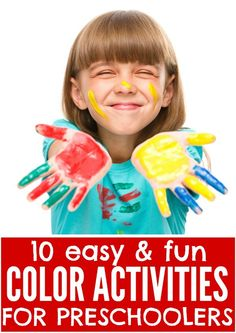 Whether your preschooler is just learning her colors, or has known them for years, this collection of 10 easy and fun color activities is just what you need to keep her engaged and busy!