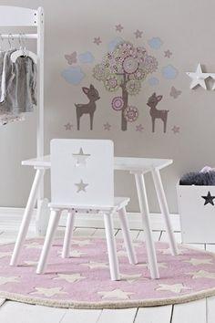 Szaro-różowy pokój dla dziewczynki w stylu skandynawskim. Zobacz więcej na:https://www.homify.pl/katalogi-inspiracji/36818/pokoje-ktore-pokocha-kazde-dziecko