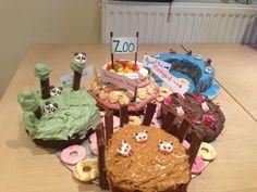 Zoo themed cake