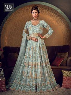Rs8,400.00 Robe Anarkali, Lehenga Choli, Anarkali Suits, Silk Dupatta, Lehenga Skirt, Lehenga Style, Abaya Style, Indian Lehenga, Bridal Lehenga