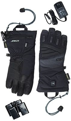 Outdoor Research Lucent Heated Gloves Black Small *** You can find out more details at the link of the image.(This is an Amazon affiliate link and I receive a commission for the sales)