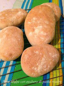 L'angolo delle delizie: Pane arabo con esubero di pasta madre