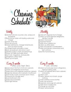 pinning weekly!: Cleaning Schedule!