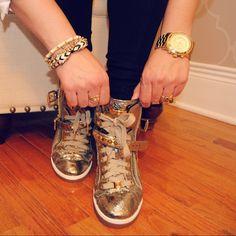 NIB MICHAEL KORS ROCK GLAM HIGHTOP SNEAKERS NIB Michael Kors Rock Glam Sneakers. Size 7.5 I normally wear 8. MICHAEL Michael Kors Shoes Sneakers