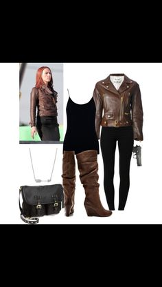 Black widow outfit break down