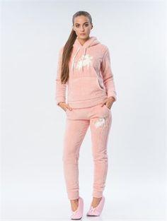 Camasircity Unicorn Polar Pijama Kapşonlu Üst