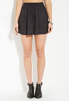 Faux Suede Skater Skirt | Forever 21 - 2000164832