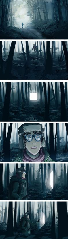 Reality Glitch in the forest by PrinceCanary