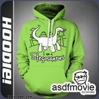 I Am A Stegosaurus hoodie from asdf movies Asdf Movie, Hoodies, Sweatshirts, Geek Stuff, Graphic Sweatshirt, Youtube, Sweaters, How To Wear, Clothes