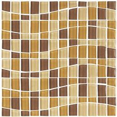 Glass Tile - GK6002 Chocolate Wave - Various Sized Glass Tile Mosaic - Glossy