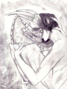 Mass Effect Art, Commander Shepard, Artist, Artwork, Kiss, Work Of Art, Auguste Rodin Artwork, A Kiss, Artworks