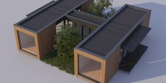 Modulart 75 - Wonen in Hout Micro House, My House, Modern Houses, Tiny Houses, Contemporary Cabin, Casas Containers, Shipping Containers, Cabins, Shed