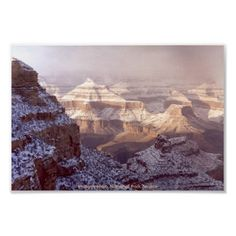 South Rim of the Grand Canyon in Winter Snow