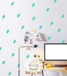 Lightning Wall Decal / Mini Lightning Decals by OhongsDesignStudio