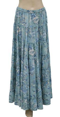 Ralph lauren skirt floral-print tiered maxi dress
